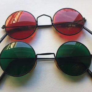 Vintage Green John Lennon Sunglasses